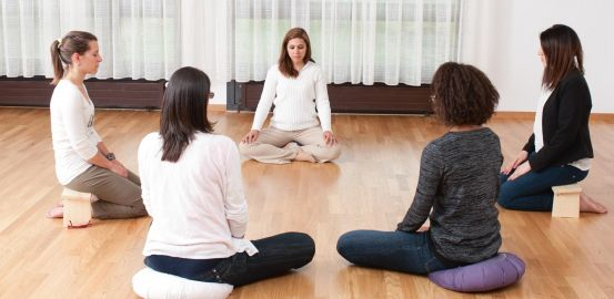 Daniela Dunker Scheunert teaches former alcoholics how to stay dry through meditation.