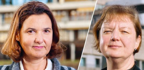 Researcher Anne-Sylvie Ramelet and clinical nurse Françoise Ninane